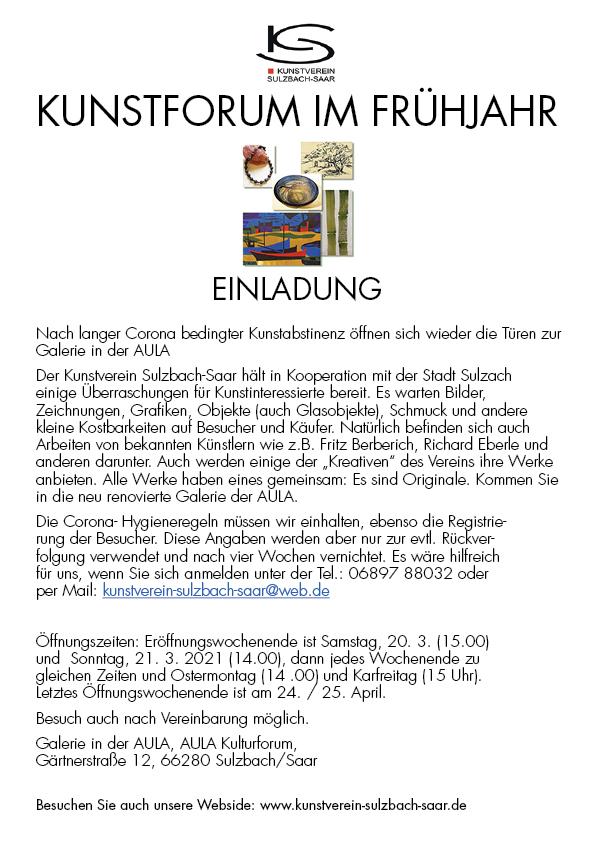 Einladung Kunstforum 2